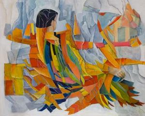 Vogelman rust, 80 x 100 cm